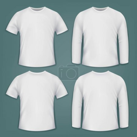 Set of white blank t-shirts