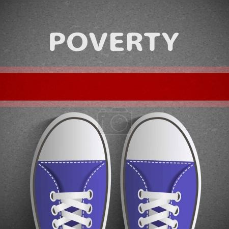 Below the poverty line.