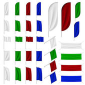 Set of multicolored flags
