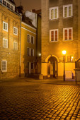 Chlebnicka Street at night in Old Town of Gdansk. Poland, Europe