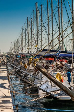 Hundreds of Yachts at Dock, Volos Greece