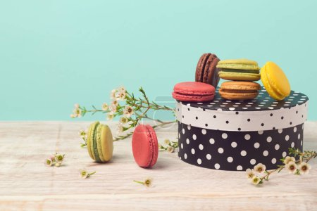 Macarons with gift box