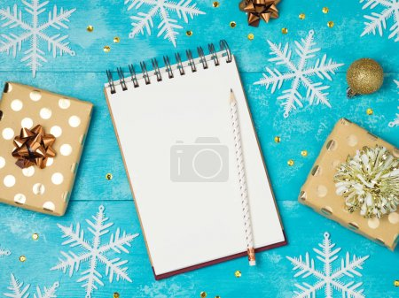 Notebook with gift boxes