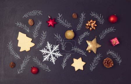 Christmas holiday chalkboard background