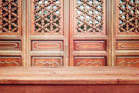 Foto de Fondo vintage con paneles de pared de madera china - Imagen libre de derechos