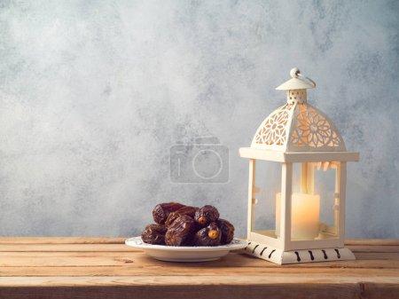 Lightened lantern and dates