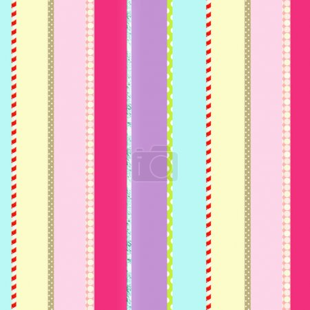 Colorful striped backdrop