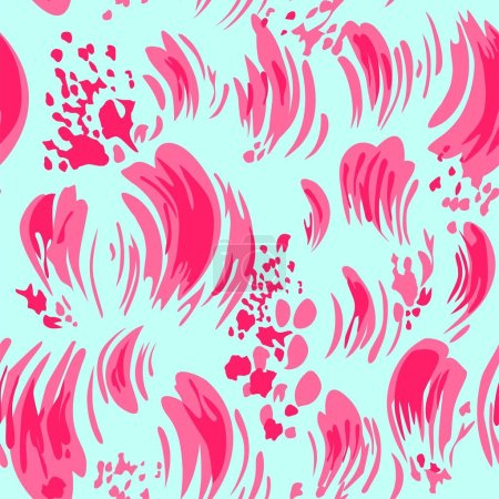 Beautiful stroked print with pink brush and splashes