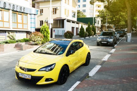 Opel Astra parked on the streets