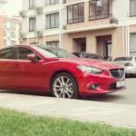 Постер, плакат: New red Mazda 6 Atenza