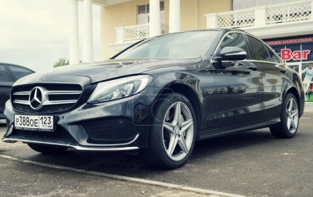 New black Mercedes Benz.