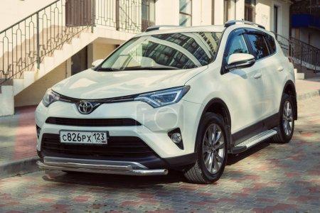 New Toyota RAV4 parked near