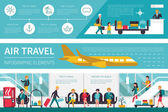 Air Travel infographic flat vector illustration Presentation Concept
