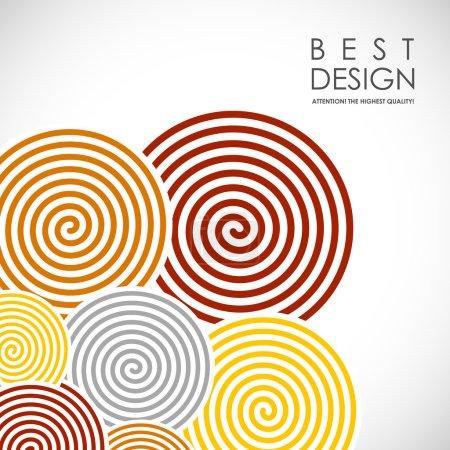 Illustration pour C'est un bacrground abstrait coloré avec des éléments en spirale - image libre de droit