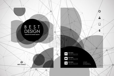 Set of brochure, poster design templates