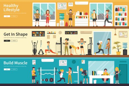 Healthy Lifestyle concept web