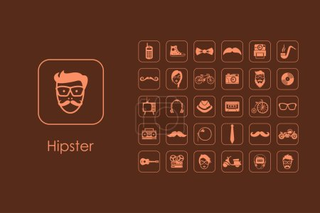 Set of hipster simple icons