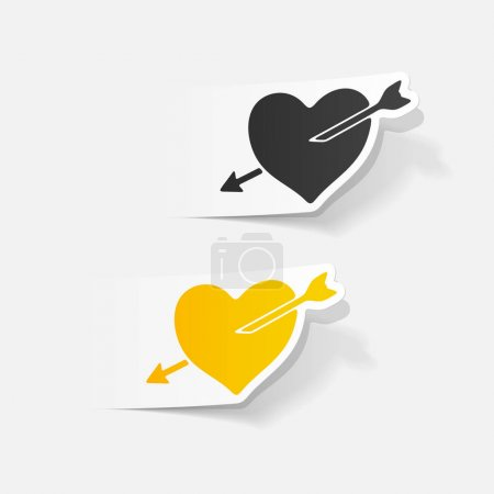 Illustration for Design elements of hearts, vector illustration - Royalty Free Image
