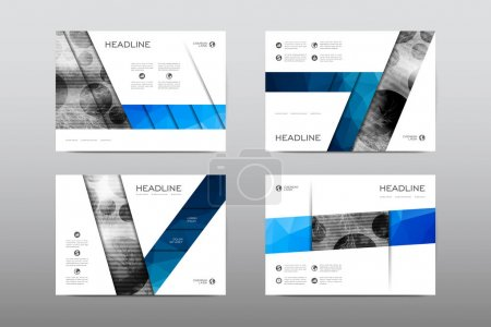 Illustration for Layouts of design brochures, magazine booklets cover abstract background, posters, leaflets - Royalty Free Image