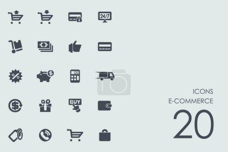 Set of e-commerce icons
