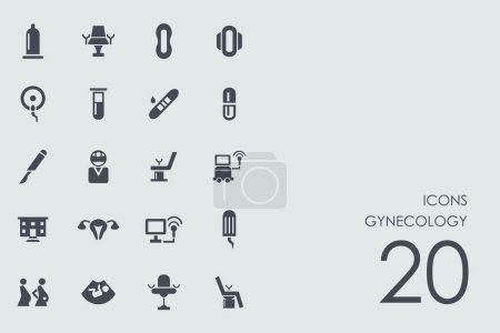 Set of gynecology icons