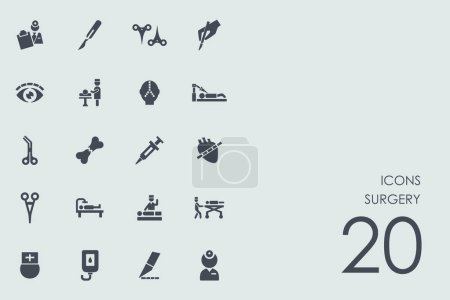 Illustration for Set of surgery icons, vector illustration - Royalty Free Image