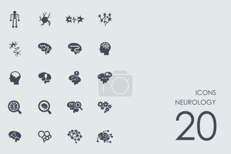 Set of neurology icons