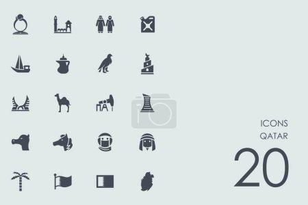 Set of Qatar icons
