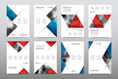 Brochure layout templates vector illustration