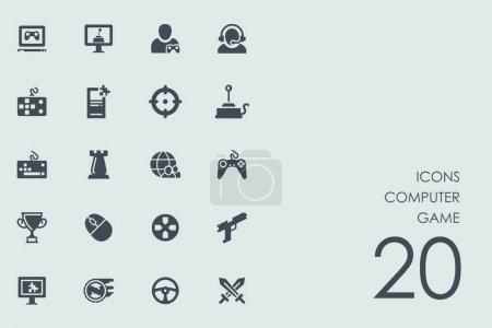 Set of computer game icons