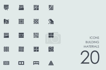 Set of building materials icons