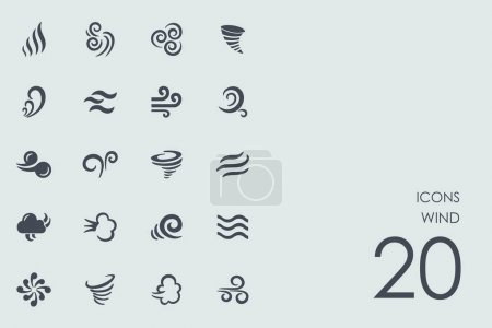 Set of wind icons