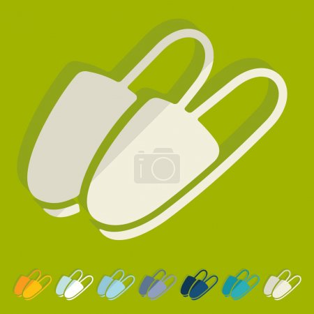 simple slippers icons