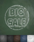 BIG SALE icon Hand drawn vector illustration Chalkboard Design