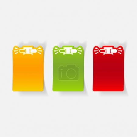 realistic design flasher