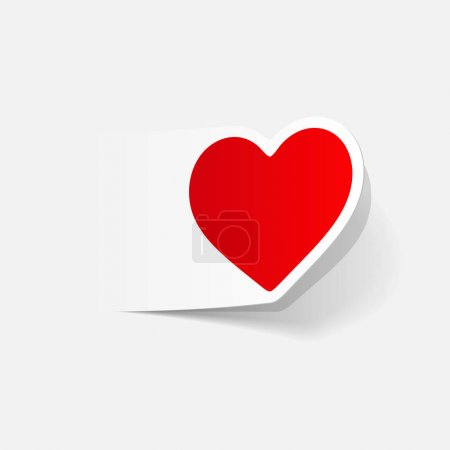 Illustration for Realistic design element: heart. vector illustration - Royalty Free Image