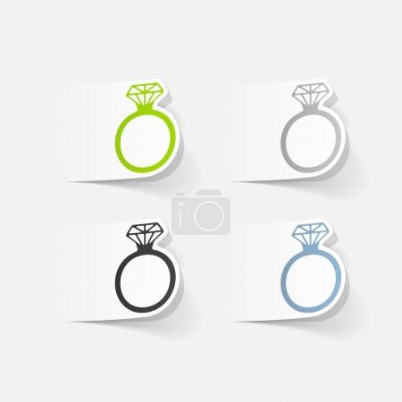 rings with diamond icons set