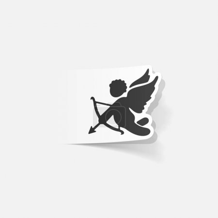 Illustration for Realistic design element: angel flat icon - Royalty Free Image