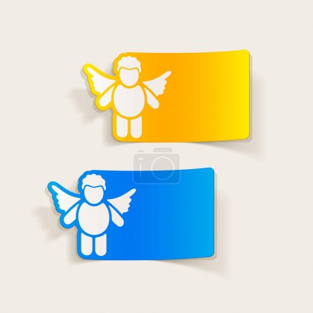 Illustration for Realistic design elements: cupids icons set - Royalty Free Image