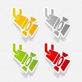 Realistic design element: spotlight icons set