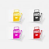 Realistic design element: slot machine icons set