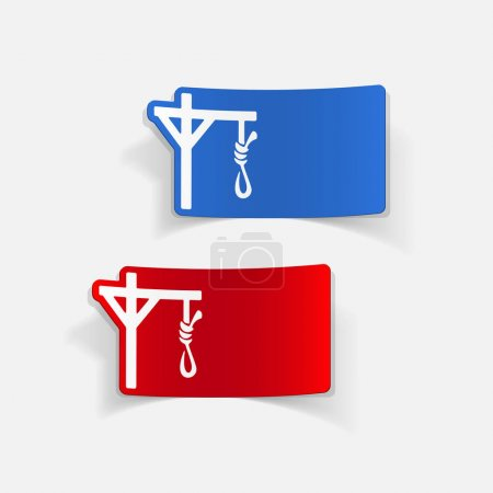 gallows flat icons