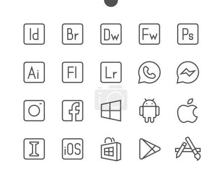 Logos line icons, vector illustration...