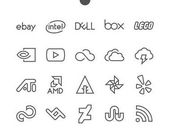 Logos line icons vector illustration