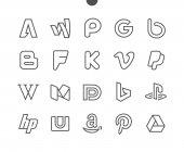 Logos line icons vector illustration