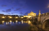 Rome Castel Sant Angelo twilight