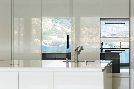 Photo for Beautiful modern house, domestic kitchen view - Royalty Free Image