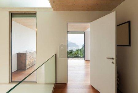 Interior, modern house, corridor