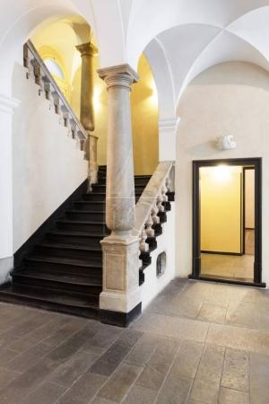 Great entrance of a italian historical building