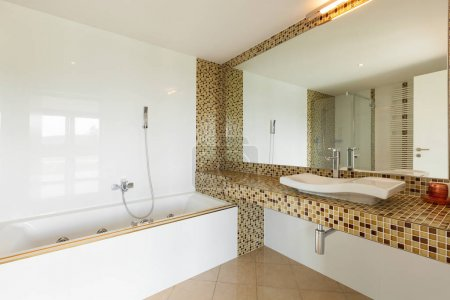 Photo for Interior modern villa, beautiful bathroom - Royalty Free Image